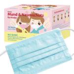 Kinder Mund- und Nasenschutz Maske Blau