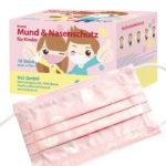 Kinder Mund- und Nasenschutz Maske Rosa