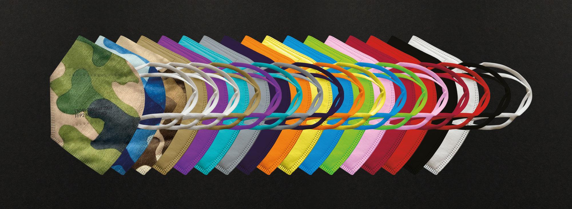 FFP2 Masken in vielen Farben
