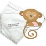 CE zertifizierte Kinderschutzmaske FFP2 weiß
